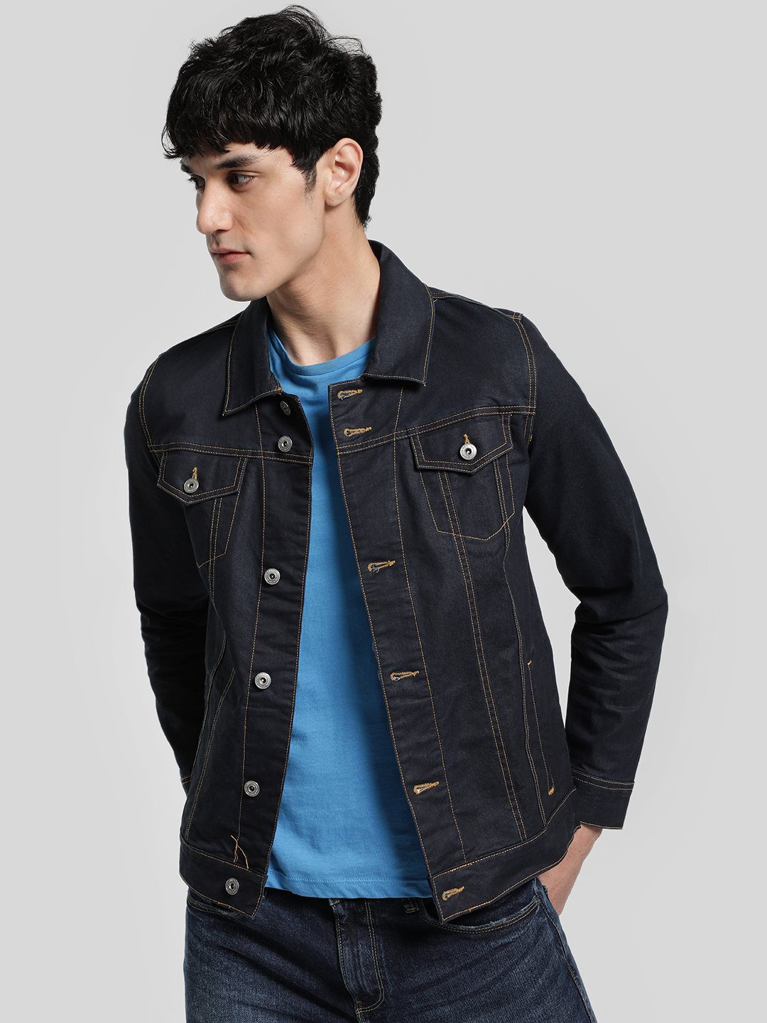 Blue Saint Dark Blue Dark Wash Denim Jacket 1