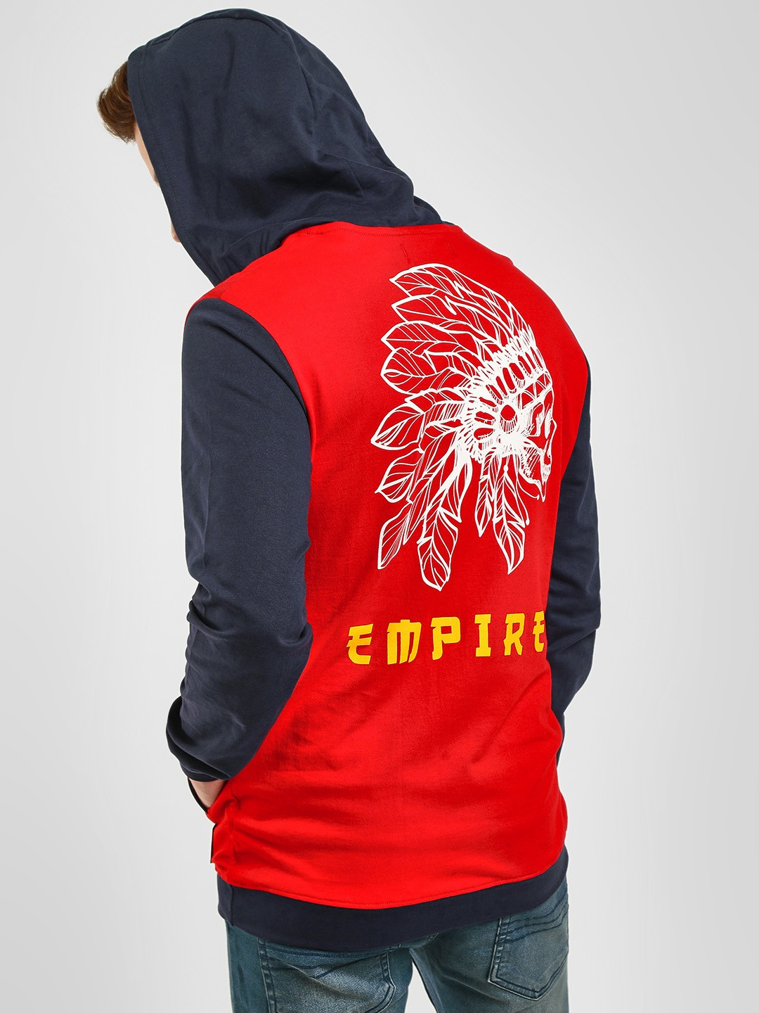Fighting Fame Red Empire Long Sleeve Hoodie 1
