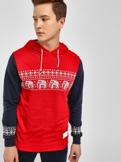 Fighting Fame Traditional Print Colour Block Hoodie
