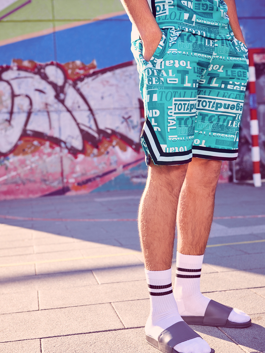 KOOVS Multi Total Legend Print Baseball Shorts 1