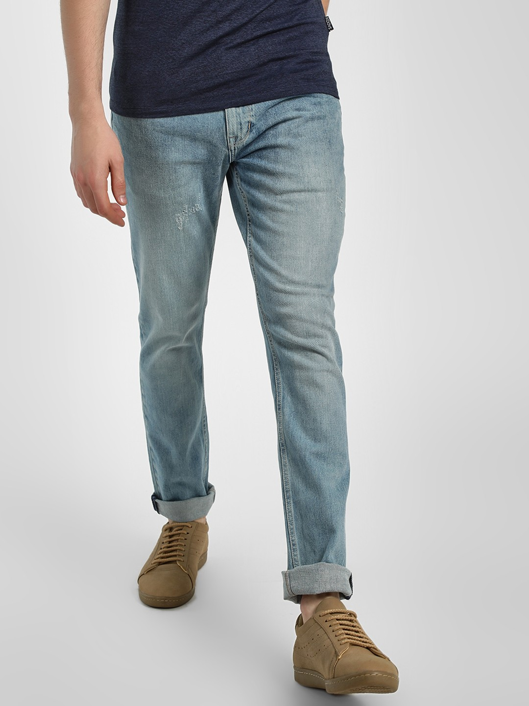 Lee Cooper MID GREY Basic Washed Jeans 1