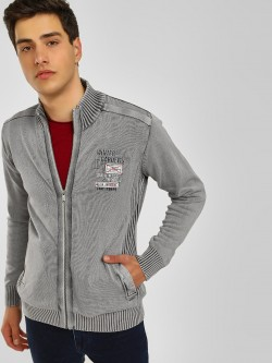 Lee Cooper Ribbed High Neck Jacket