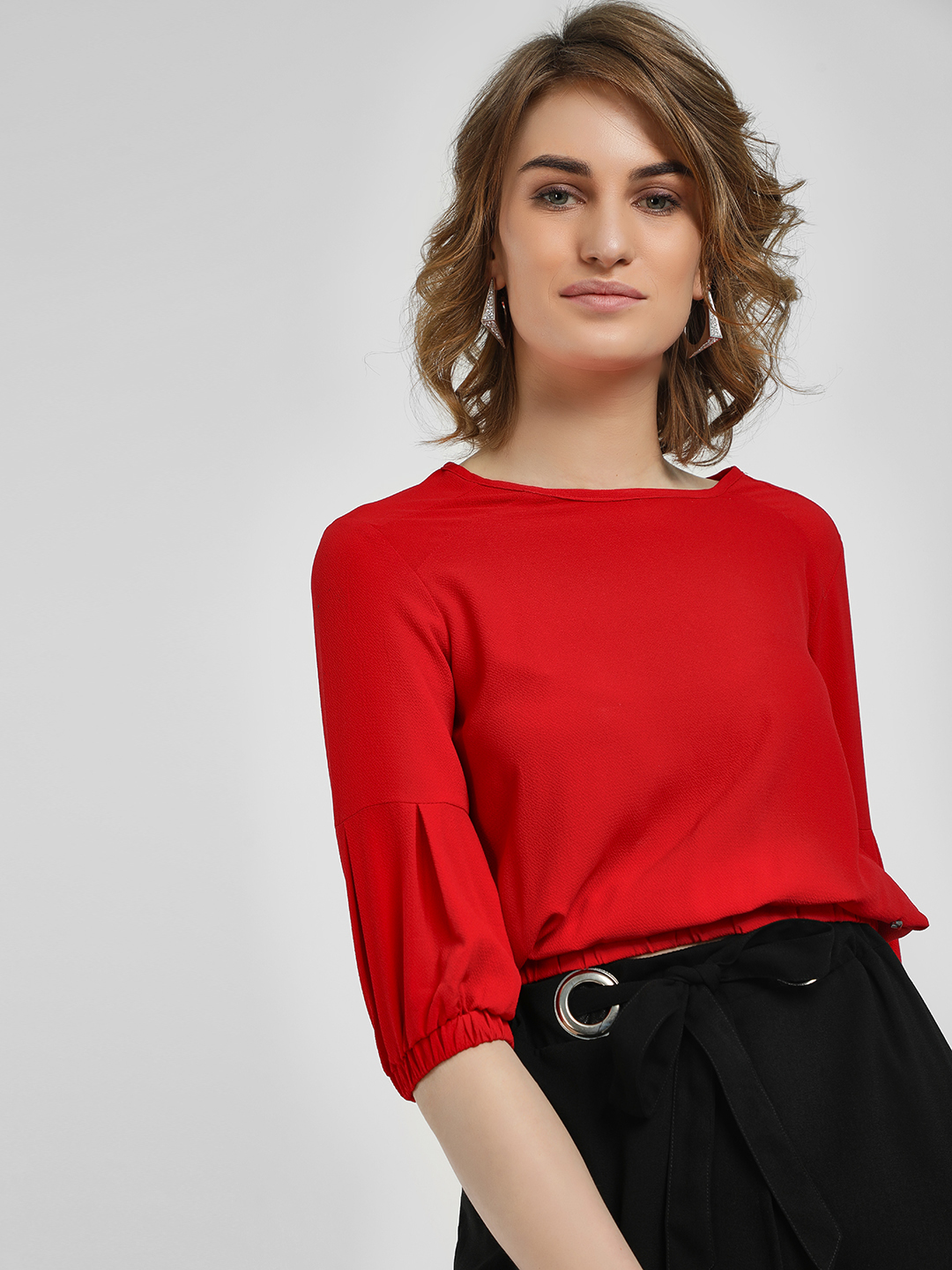 Lee Cooper Red Elasticated Hem Blouse 1
