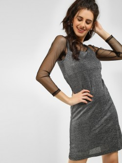 Lee Cooper Metallic Shift Dress
