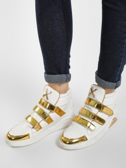 Tiktauli Metallic Strap Hi-Top Sneakers
