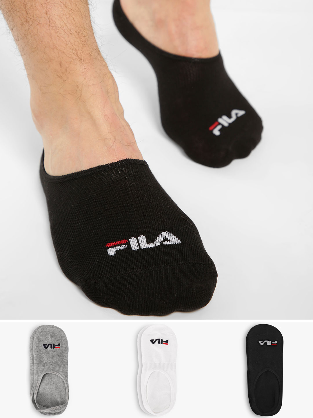 Fila Multi No Show Socks (Pack Of 3) 1