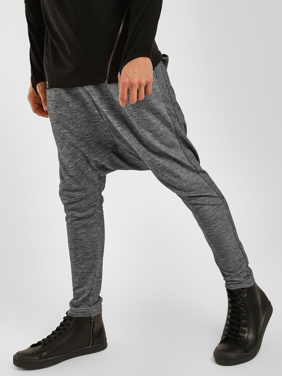 Fighting Fame Charcoal Drop Crotch Skinny Joggers 1