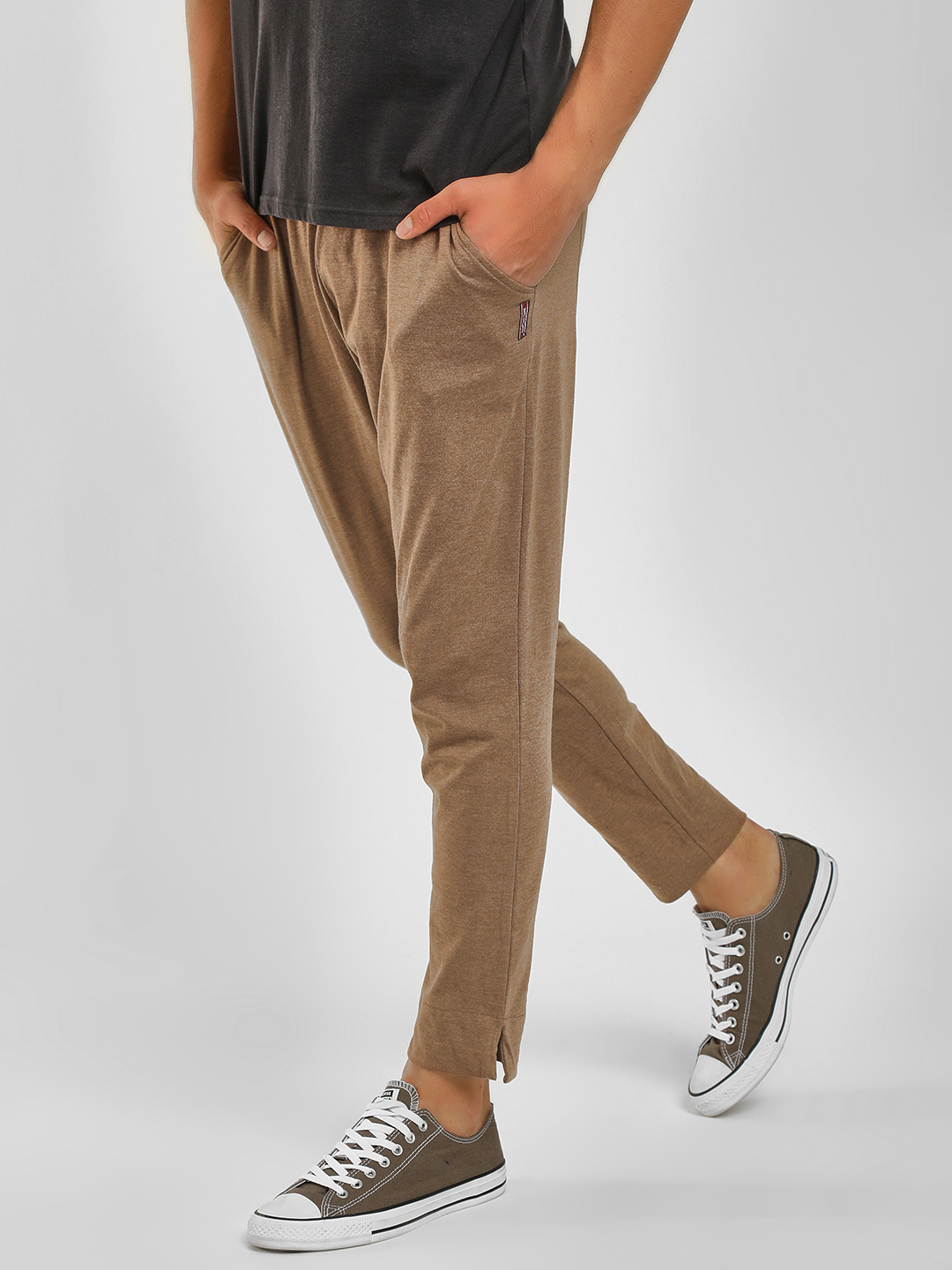 Fighting Fame Brown Basic Slim Fit Joggers 1