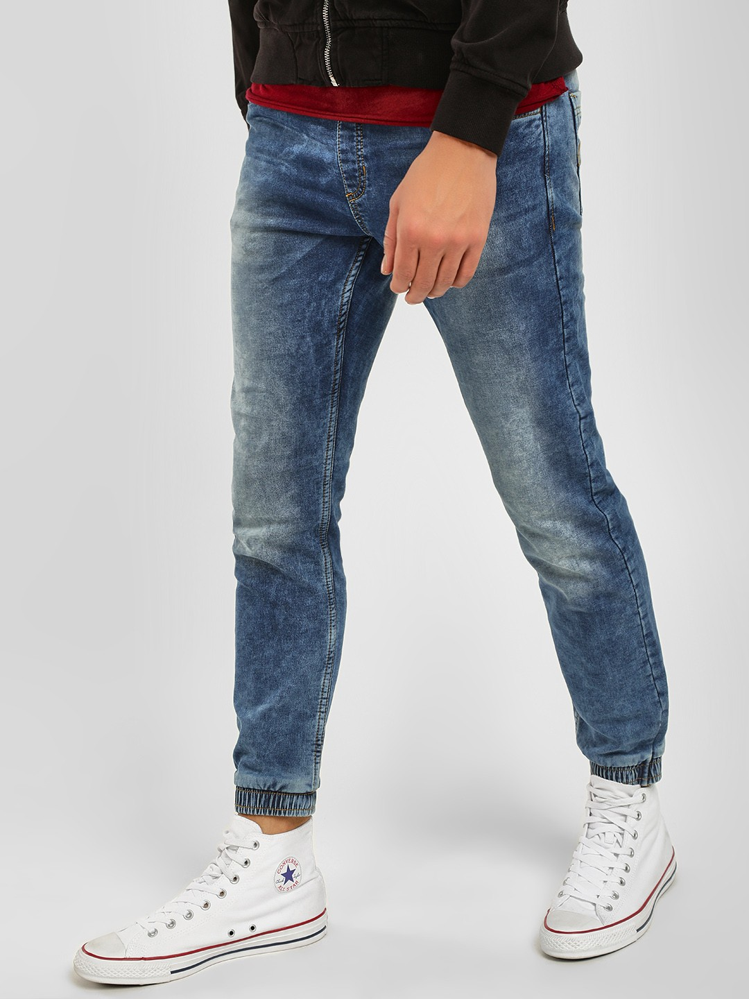 Buffalo Blue Washed Denim Joggers 1