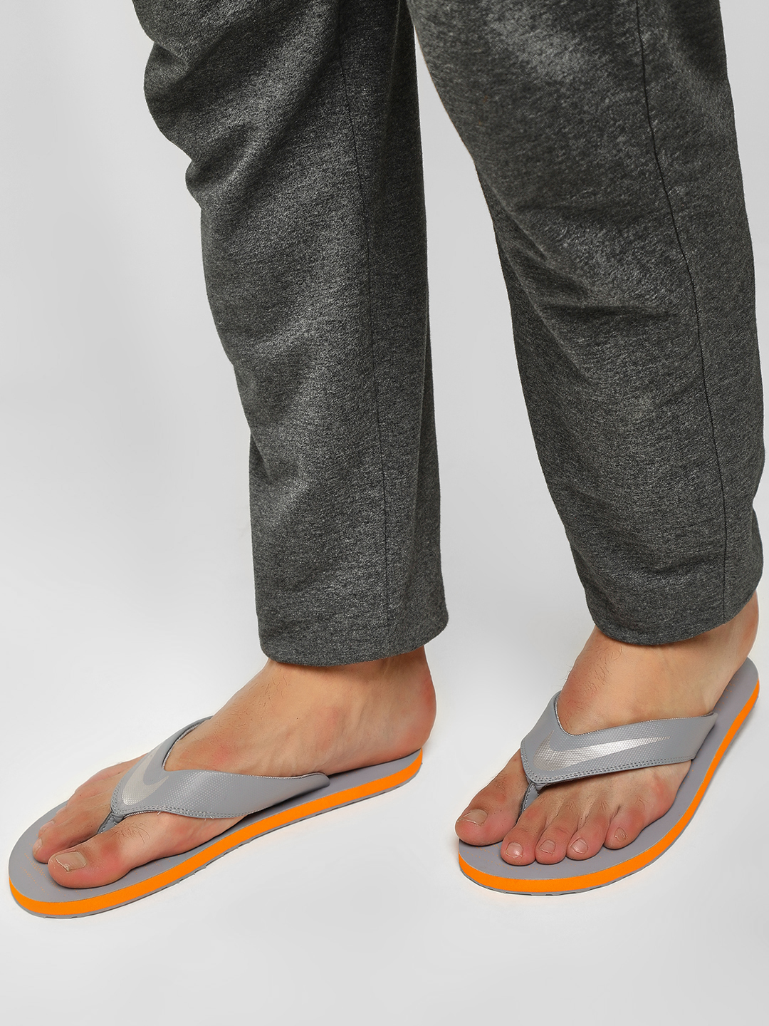 Nike Grey Chroma Thong Flip Flops 1