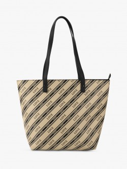 New Look Stripe Love Text Tote Bag