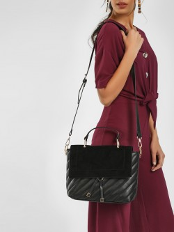 New Look Quilted Satchel Bag