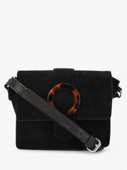 New Look Tortoise Shell Buckle Sling Bag