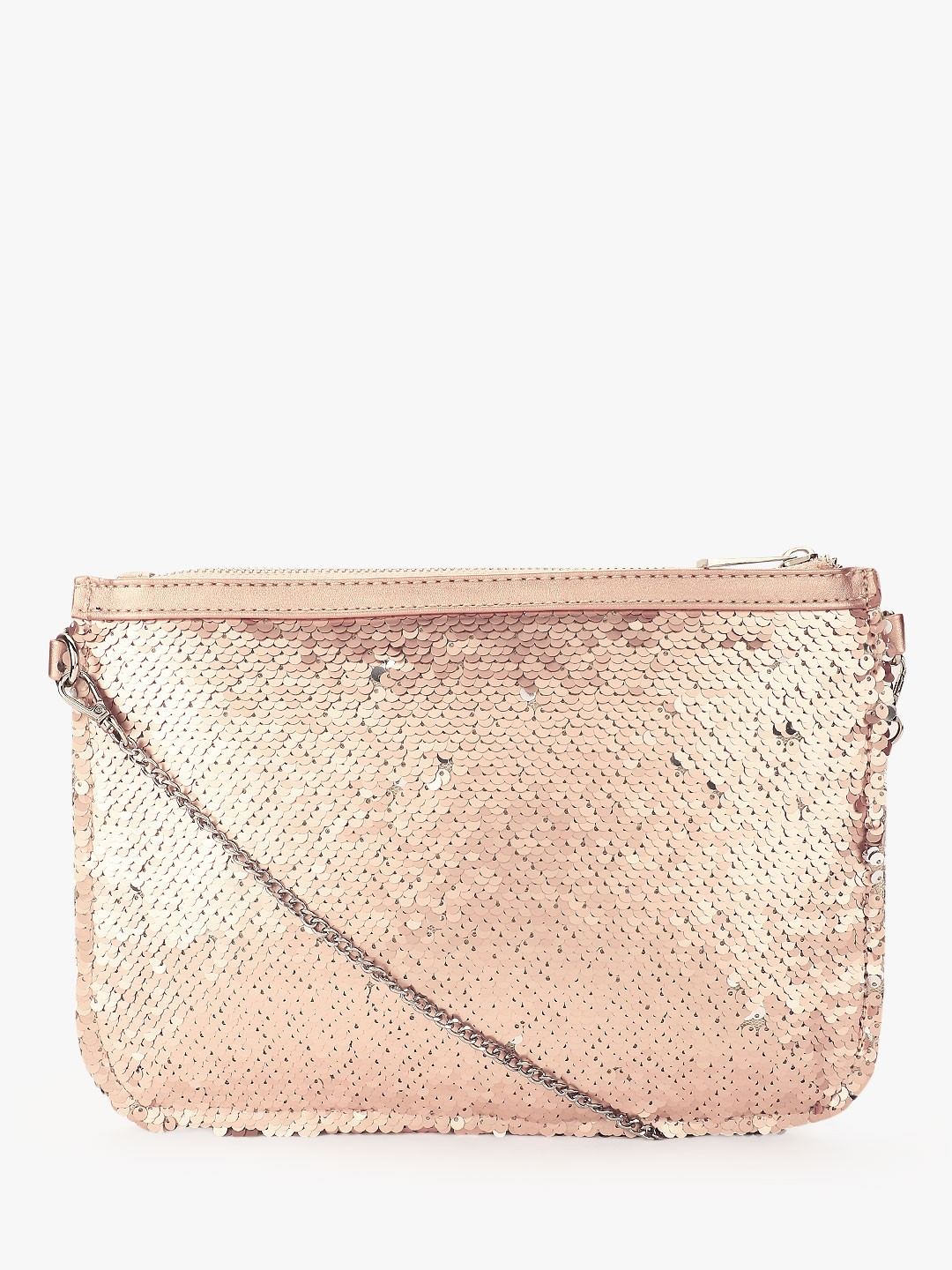 New Look Pink Two-Way Sequin Clutch 1