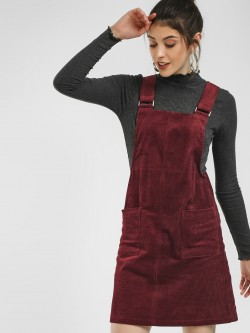 New Look Corduroy Twin Pocket Pinafore Dress