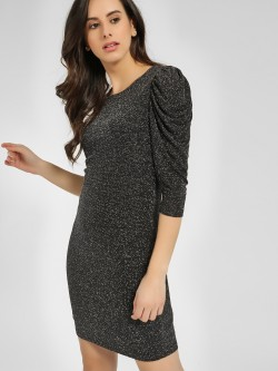 Cover Story Puffed Sleeves Bodycon Dress