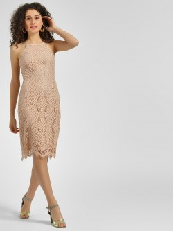 Cover Story Lace Strappy Bodycon Dress