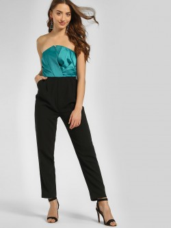 Cover Story Colour Block Bandeau Jumpsuit