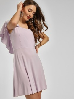 Cover Story Overlap Sleeve Skater Dress