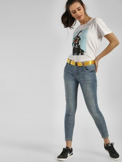 Cover Story Light Wash Skinny Jeans