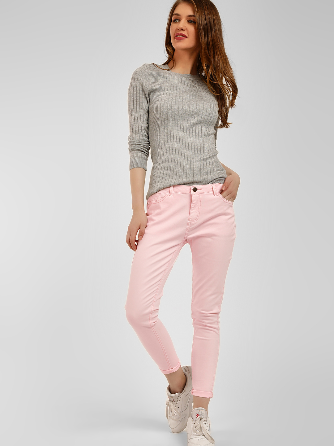 Cover Story Blush pink Mid Rise Skinny Jeans 1