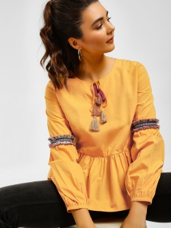 Cover Story Boho Fringe Top