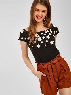 Cover Story Floral Cutout Top