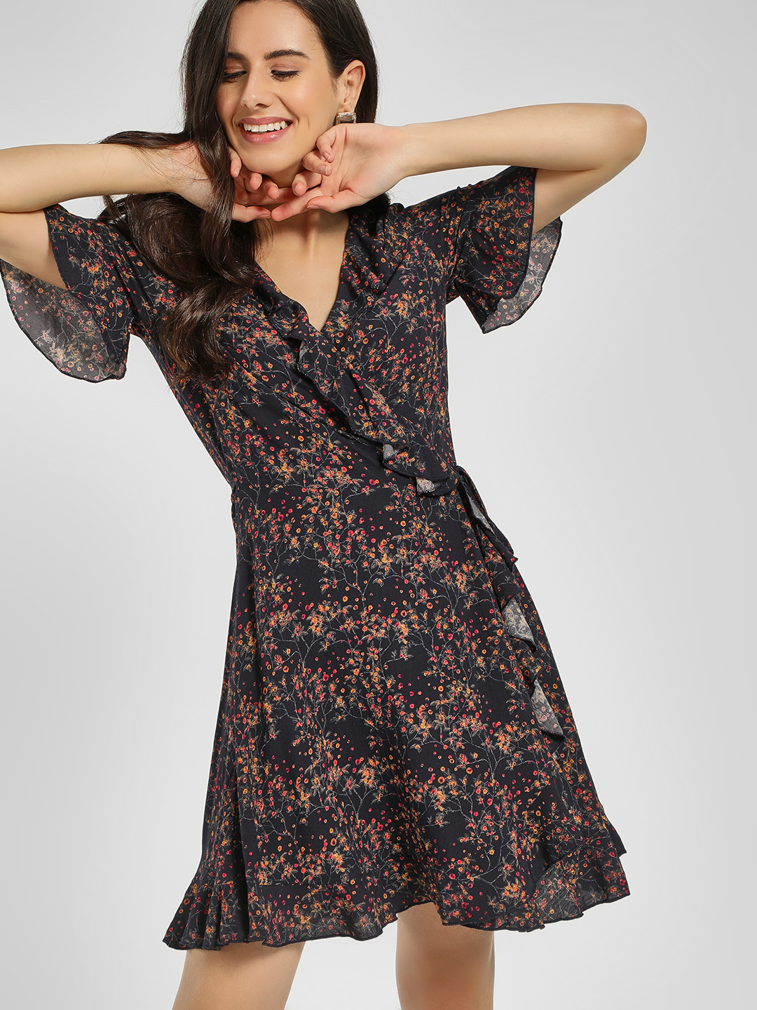 Cover Story Print Ditsy Floral Print Skater Dress 1