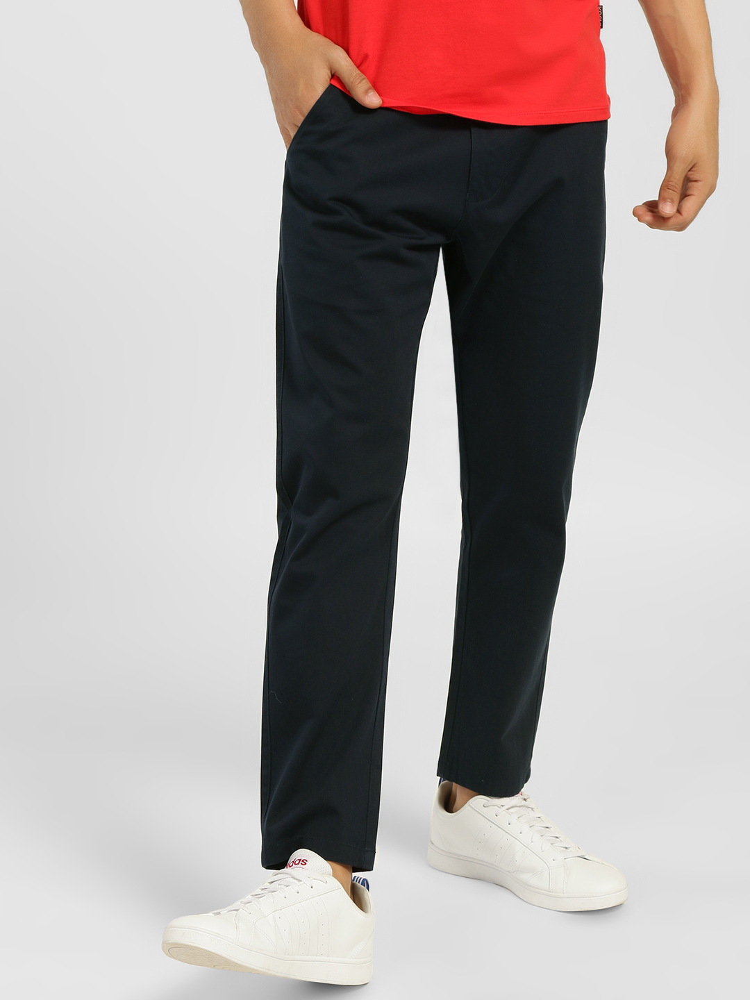 KOOVS Navy Basic Tapered Fit Chinos 1