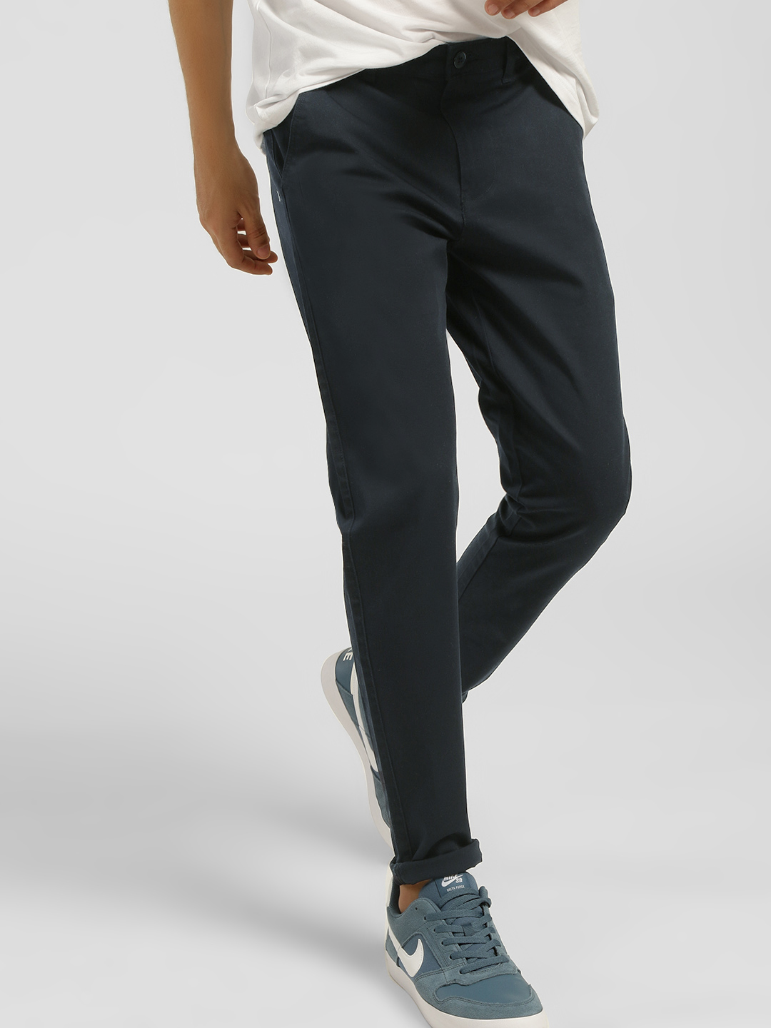 KOOVS Navy Basic Skinny Fit Chinos 1