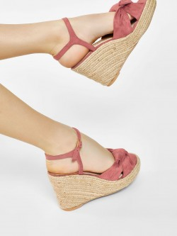 KOOVS Knotted Strap Wedges