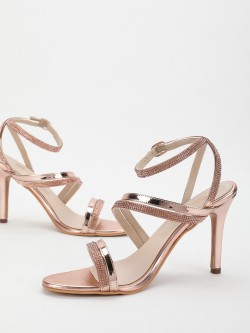KOOVS Diamante Embellished Heeled Sandals