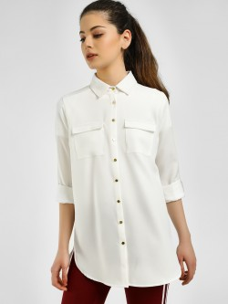 KOOVS Basic High Low Shirt