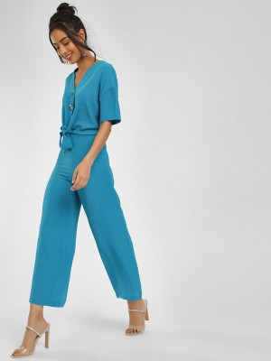 KOOVS Front Knot Buttoned Jump...