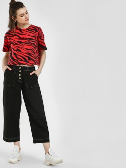 KOOVS Buttoned Wide Leg Culottes