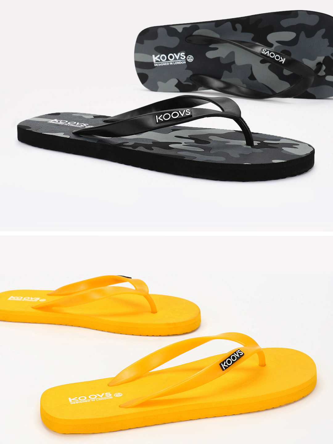 KOOVS Multi Flip-Flops (Pack Of 2) 1