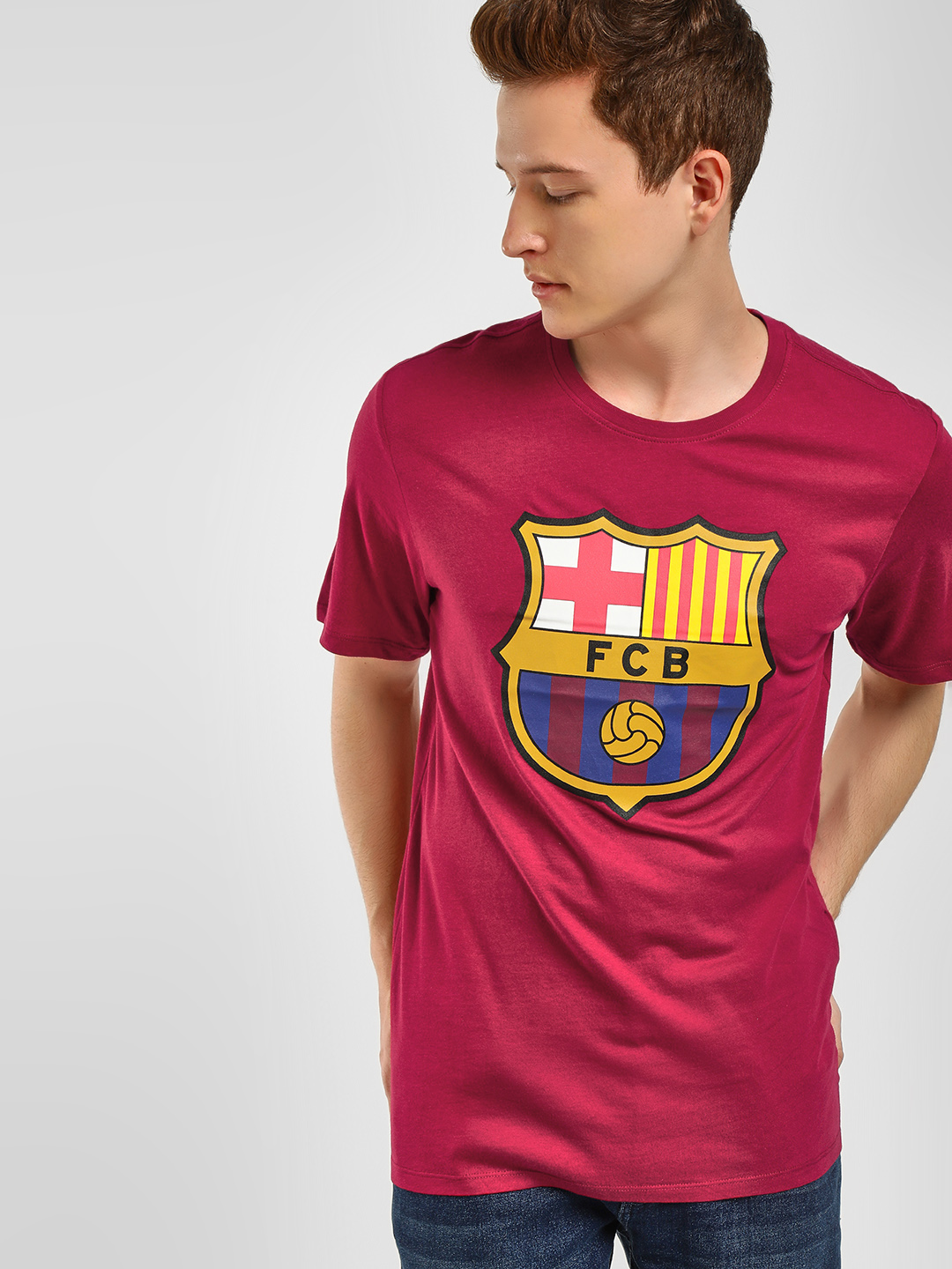 Nike Red FC Barcelona Crest T-Shirt 1