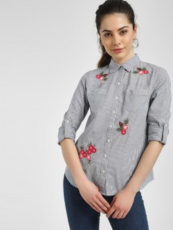 PostFold Poppy Striped Casual Shirt
