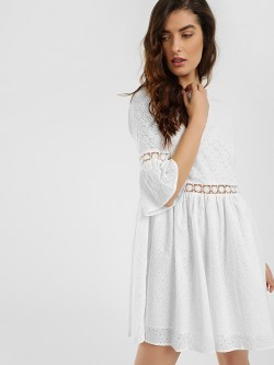 KOOVS Broderie Lace Skater Dress