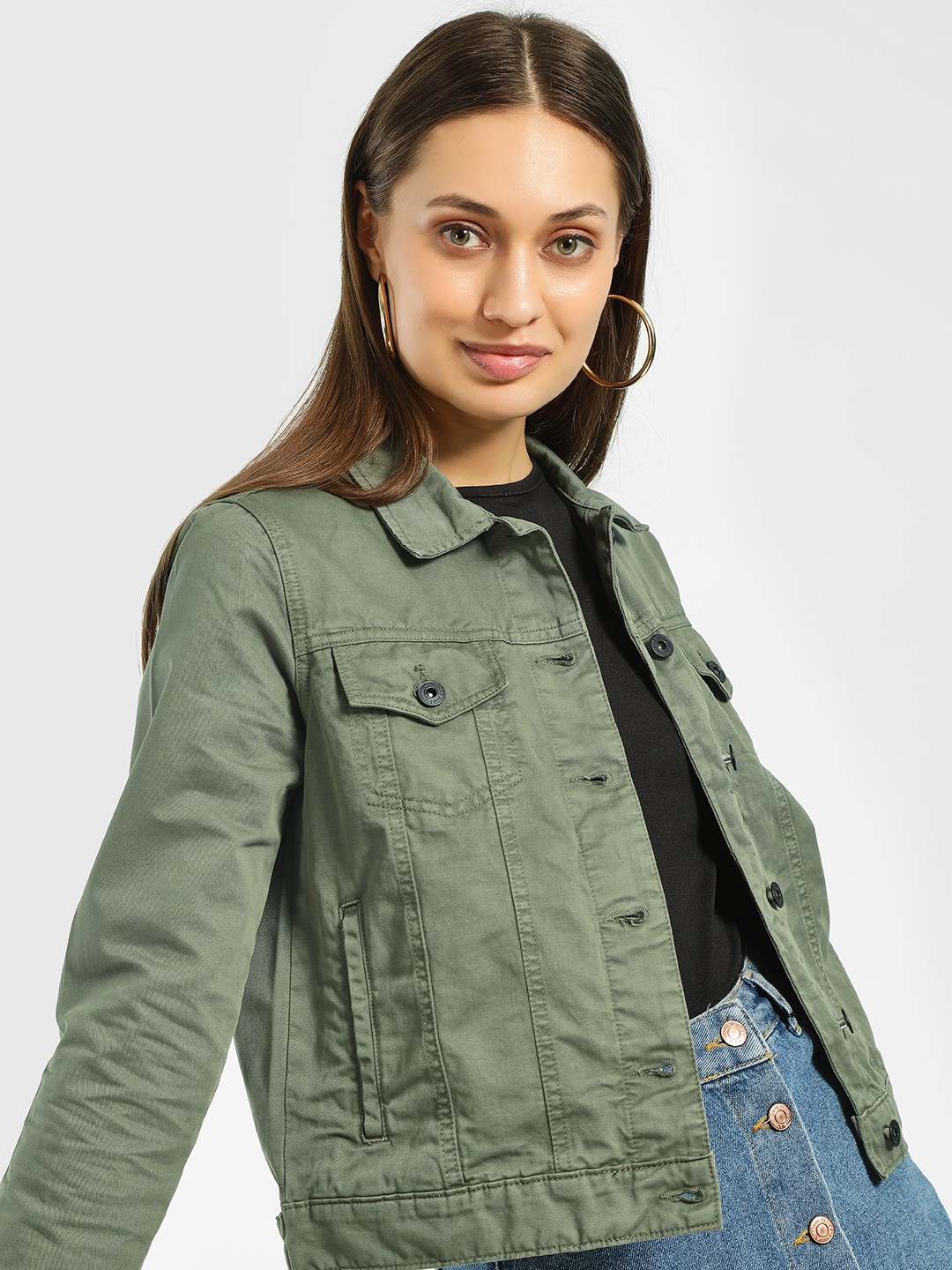 Blue Saint Olive Basic Denim Jacket 1