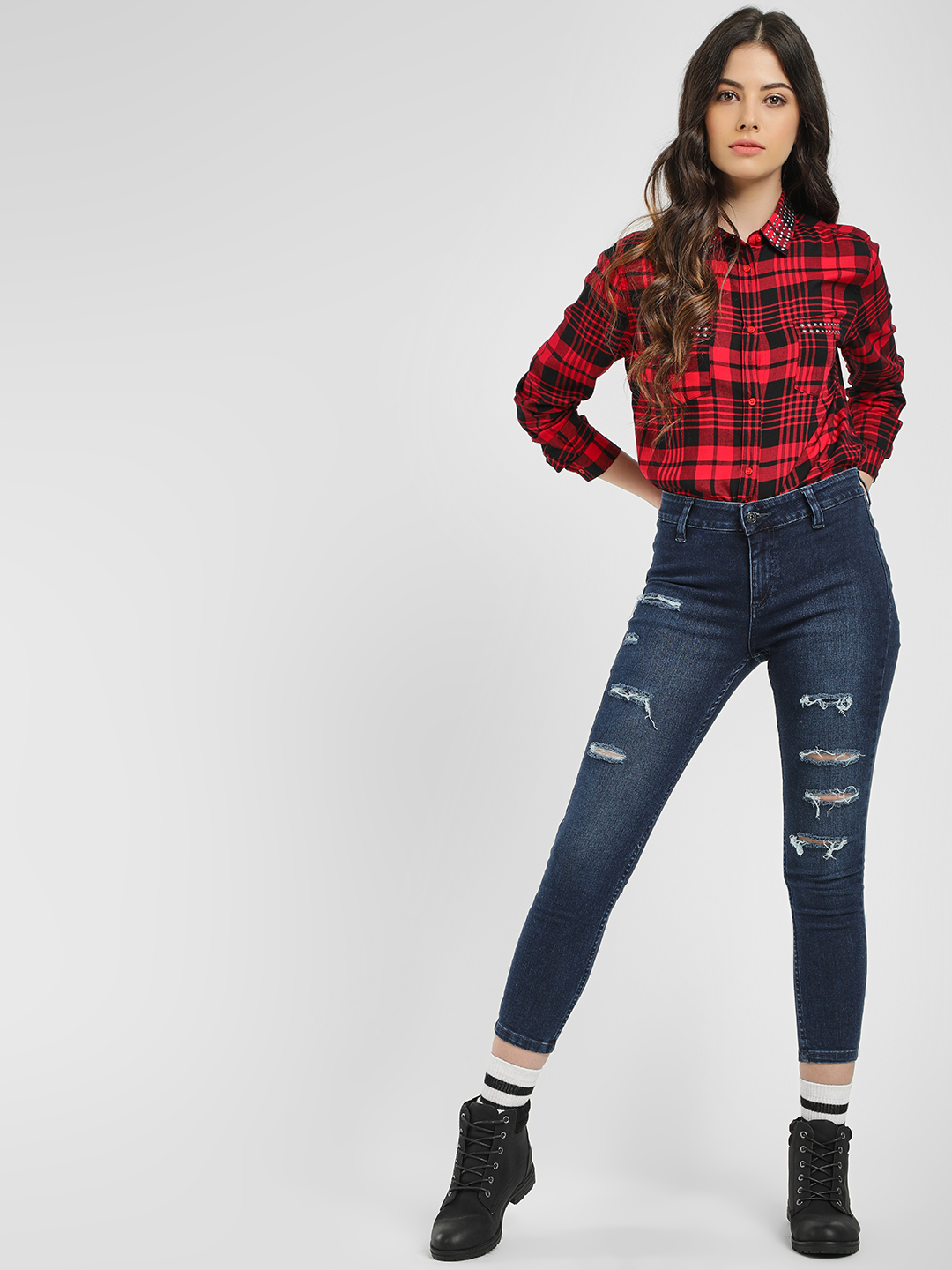 Blue Saint Blue Ripped & Cropped Skinny Jeans 1