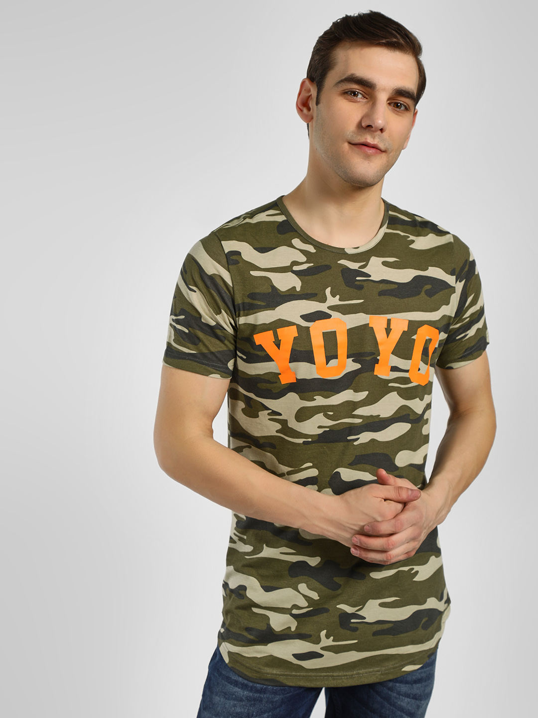 Adamo London Multi Yo Yo Camo Print T-Shirt 1