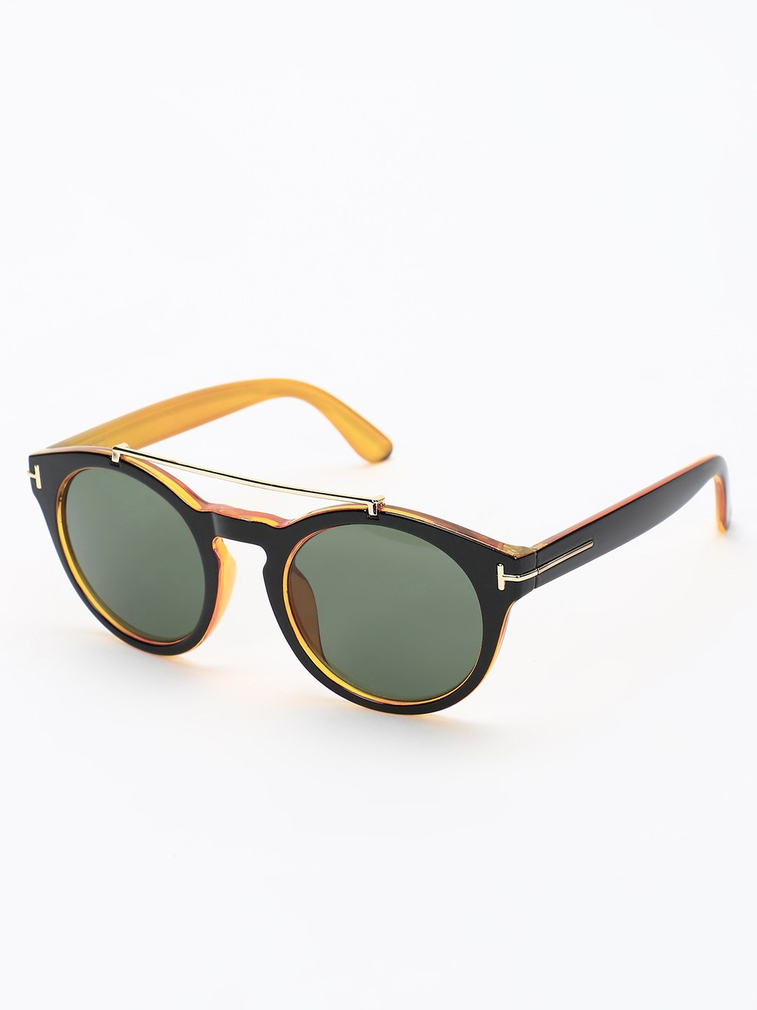 Style Fiesta Black Conjoined Round Sunglasses 1