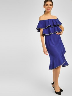 Cover Story Ruffle Tiered Off-Shoulder Dress