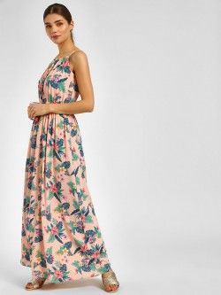 Cover Story Floral Print Maxi Dress