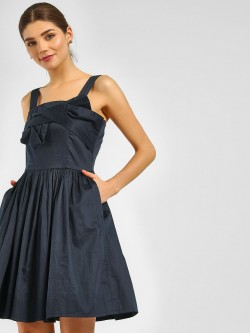 Cover Story Bow Front Skater Dress