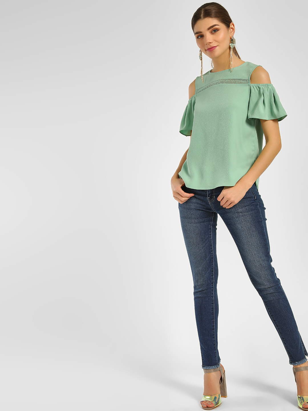 Cover Story Mid Wash Mid Wash Skinny Jeans 1
