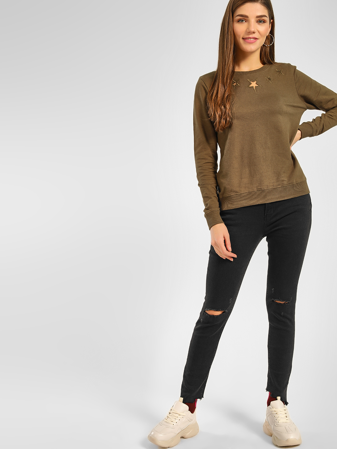 Cover Story Black Torn High Rise Skinny Jeans 1