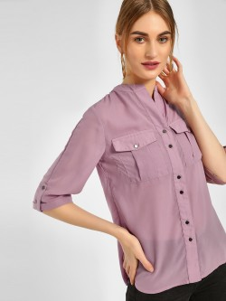 Cover Story Casual Lace Trim Shirt