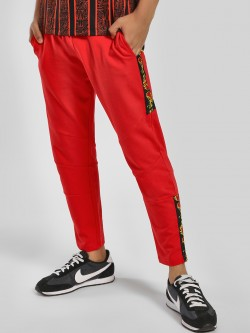 KOOVS Side Fire Tape Cropped Joggers